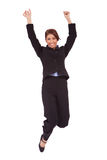 Jumping business woman stock images