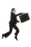 Jumping business woman Stock Photo