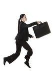 Jumping business woman Stock Photo