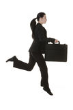 Jumping business woman Royalty Free Stock Image