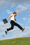 Jumping businessman Stock Images