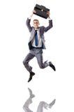 Jumping businessman Stock Image