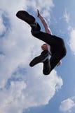 Jumping businessman Stock Photos