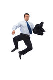 Jumping businessman Stock Photos