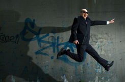 Jumping businessman. Royalty Free Stock Images
