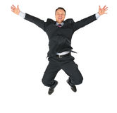 Jumping businessman Royalty Free Stock Image