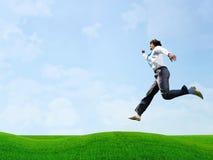 Jumping businessman Royalty Free Stock Photos