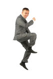 Jumping businessman royalty free stock photos