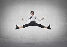 Jumping businessman Stock Image