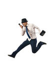 Jumping businessman in business concept Stock Image