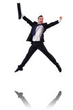 Jumping businessman Stock Photography