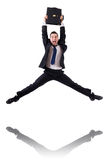 Jumping businessman Royalty Free Stock Photography