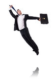 Jumping businessman Royalty Free Stock Image