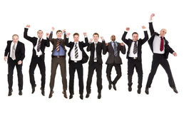 Jumping businessmen Stock Photos