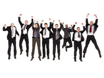 Jumping businessmen Stock Photo