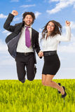 Jumping businessperson Stock Photos