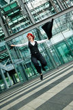 Jumping Businesswoman Royalty Free Stock Photography