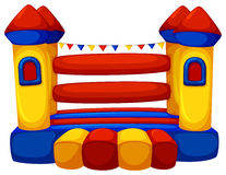 Jumping castle with no children Royalty Free Stock Image