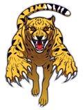 Jumping cheetah Royalty Free Stock Images