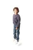 Jumping child stock image