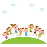 Jumping children Royalty Free Stock Photos