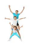 Jumping children Royalty Free Stock Photo