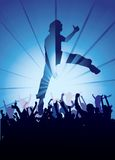 Jumping at a concert Royalty Free Stock Photography