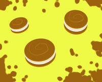 Jumping Cookies_Yellow Royalty Free Stock Photo
