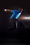 Jumping cool man dancer Royalty Free Stock Images