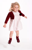 Jumping cute little girl Royalty Free Stock Photos