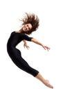 Jumping dancer royalty free stock photos