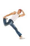 Jumping dancer Royalty Free Stock Image