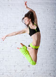 Jumping dancer Stock Photography