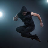 Jumping dancer Royalty Free Stock Images
