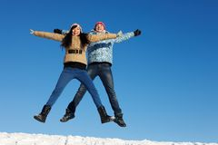 Jumping dates Royalty Free Stock Photo