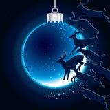 Jumping deer Christmas ball Stock Photos