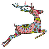 Jumping deer in Christmas colors Stock Photography