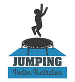 Jumping design Stock Images
