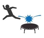 Jumping design Stock Image