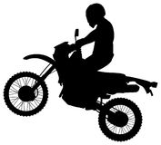 Jumping Dirtbike Silhouette Royalty Free Stock Photography