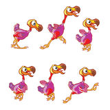 Jumping Dodo Sprite Royalty Free Stock Photo