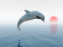 Jumping Dolphin. Computer generated 3D illustration with a jumping dolphin Stock Photos