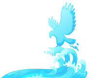 Jumping eagle out of water Royalty Free Stock Images