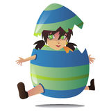 Jumping egg Stock Image