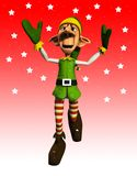 Jumping Elf Royalty Free Stock Photos