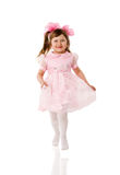 Jumping Excited Girl Stock Images