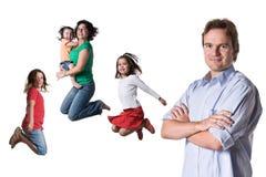 Jumping family Royalty Free Stock Photos