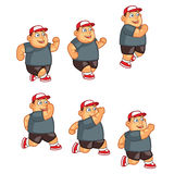 Jumping Fat Boy Animation Sprite Royalty Free Stock Images