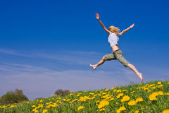 Jumping female Stock Photography