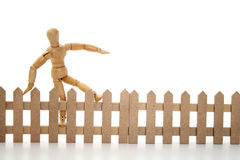 Jumping fence Royalty Free Stock Photography